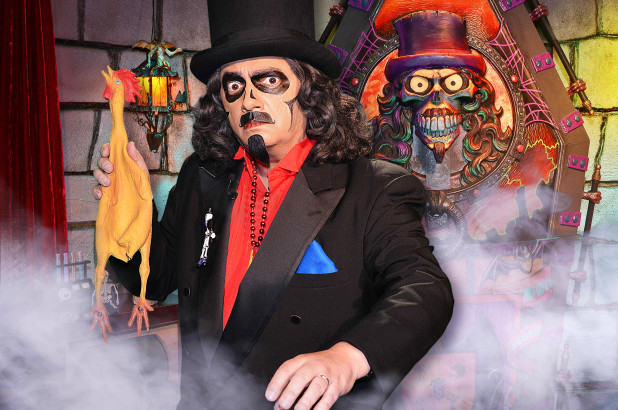 "The Chicago area's beloved Horror Host ""Svengoolie,"" ready to throw his Rubber Chicken"