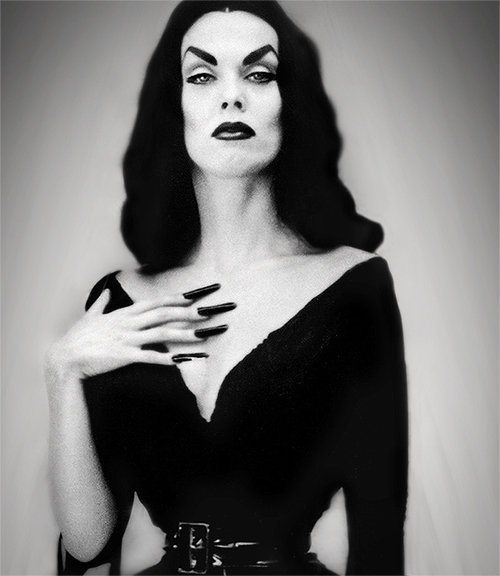 "Finnish actress Maila Nurmi, TV's original Horror Host known as ""Vampira"" and also a former Guinness World Record holder for smallest waist."