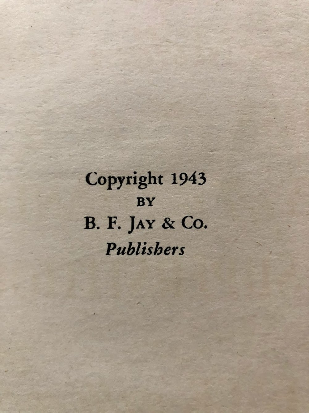Note Copyright Year