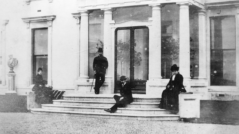 The entrance to Loftus Hall circa 1900. Image courtesy of Aiden Quigley, current owner of  Loftus Hall  and author  Chris Rush , All Rights Reserved.