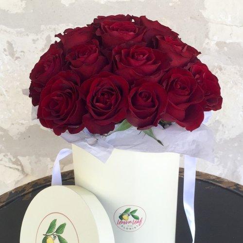 Red Rose Flower Box — Lemon Leaf Florist