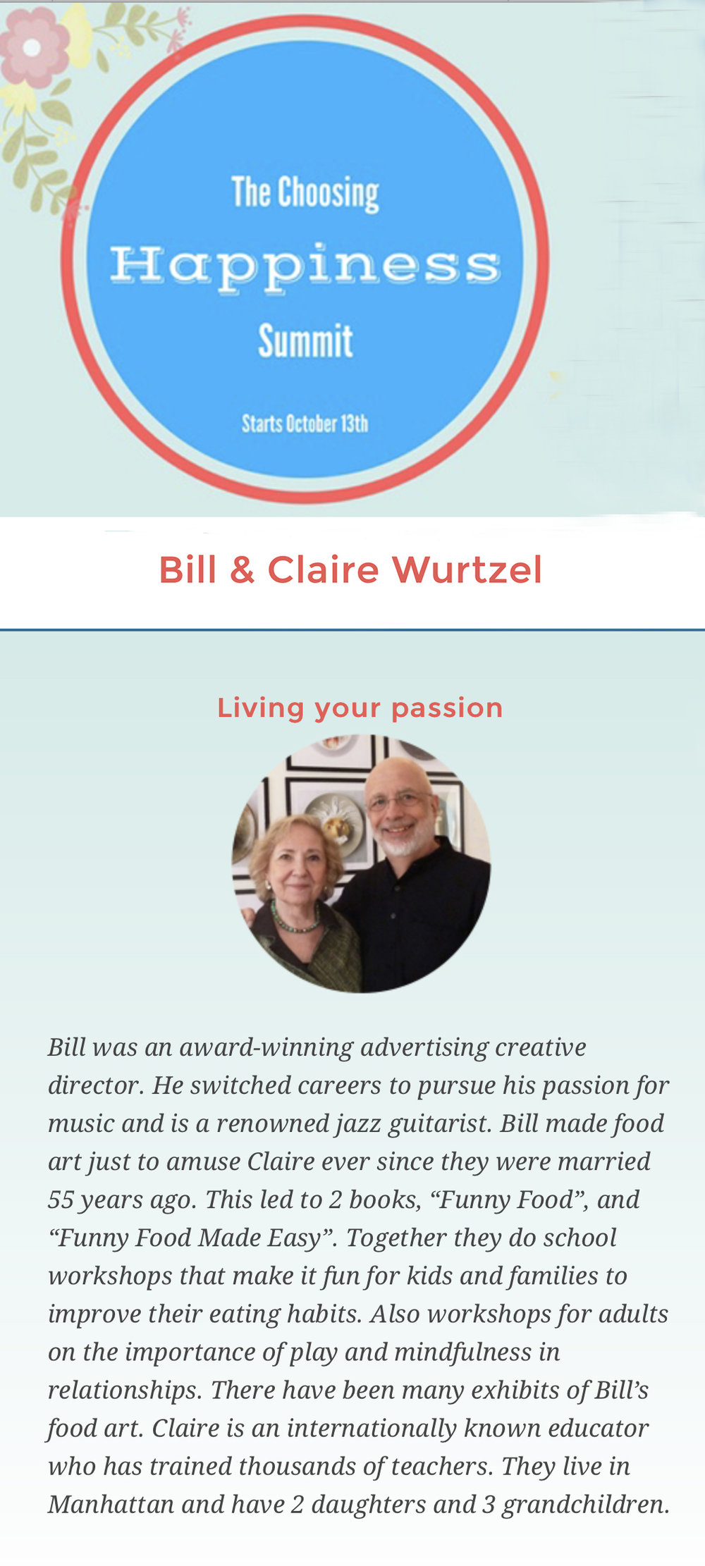 Happiness Summit: Living your passion
