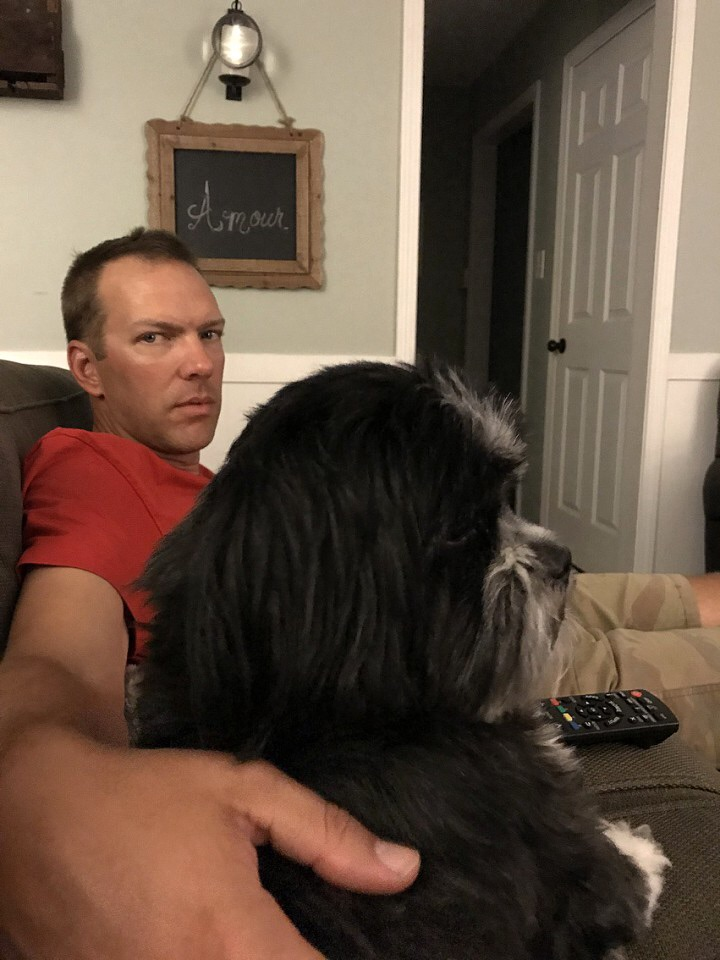 Jake and Jon watching A Dog's Purpose