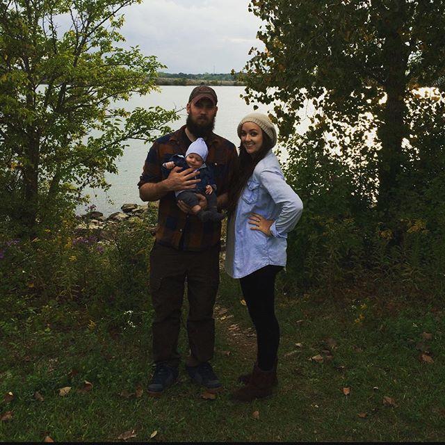 My Men 🍁 #mcm #poisonedlaceboutique #lakeside #fall #autumnvibes #plaid #newmom #newdad #babyboy #7weeksold #postpartum #love #naturelover #greenery #ohiogram #myfamily #lblogger