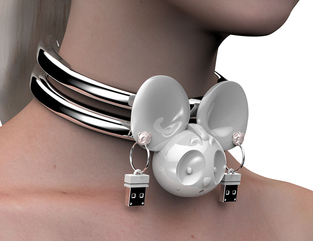016_Double Choker with MouseBowTie USB Earrings_closeup.jpg