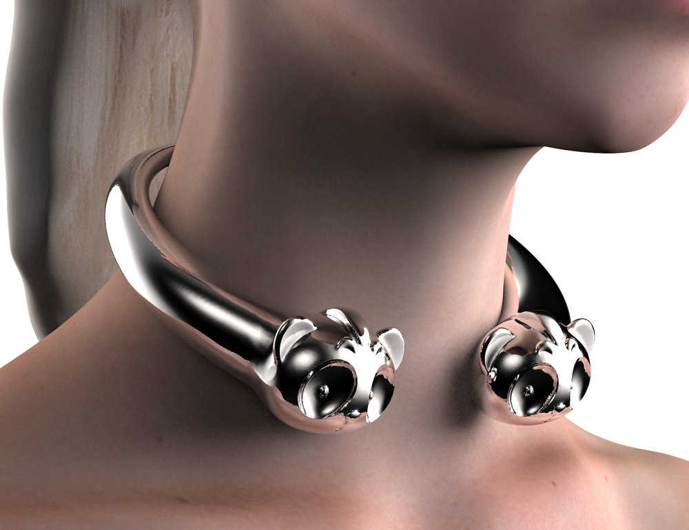 017_70s All Chrome Choker Open at Middle_Closeup.png