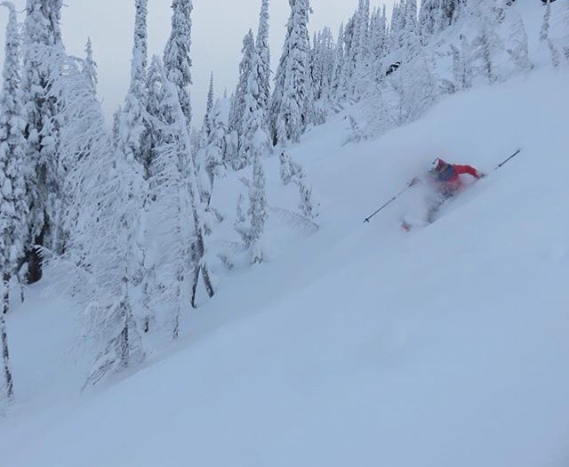 Got pow? @madcrowell finds the goods in Nelson, BC!