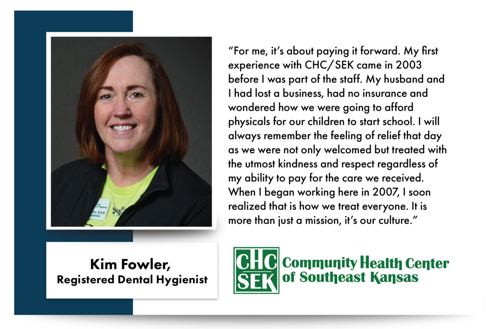 Kim Fowler, CHCSEK Registered Dental Hygienist