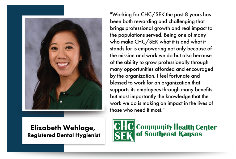 Elizabeth Wehlage, Registered Dental Hygienist CHCSEK