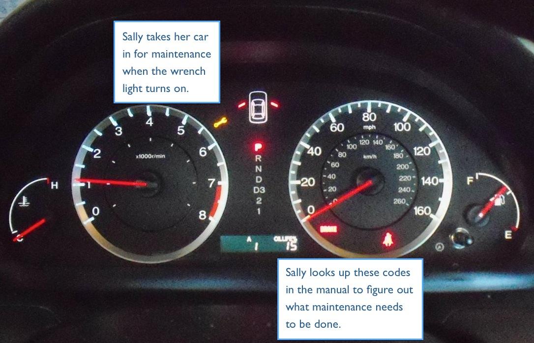 Sally's dashboard