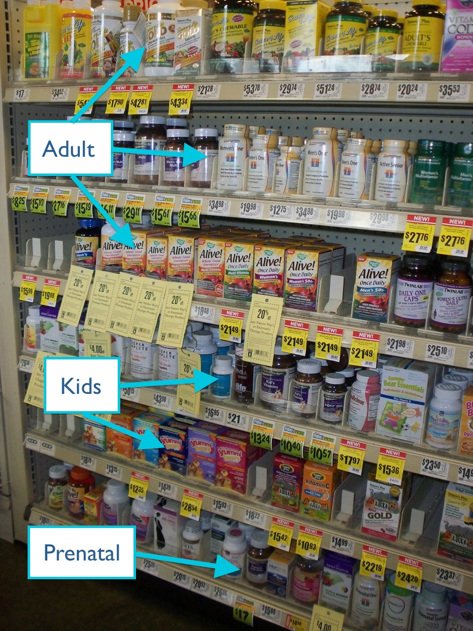 vitamin shelf - hint