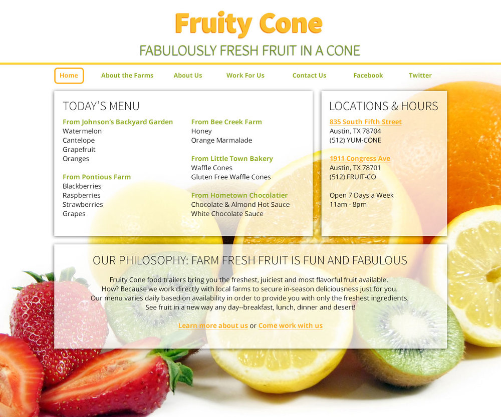 Fruity Cone - the desktop version