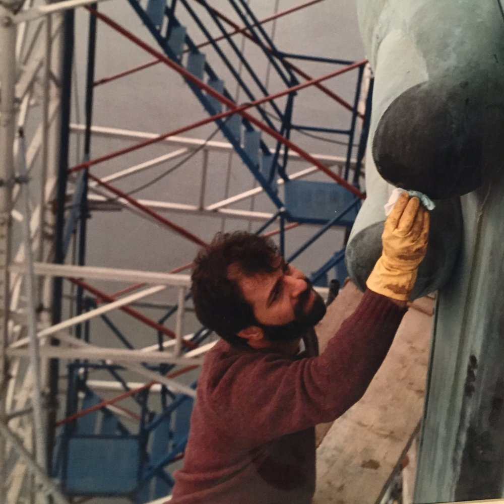 Steve Tatti circa 1985 Restoring the Statue of Liberty.