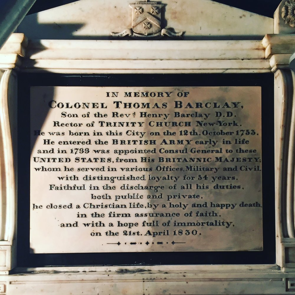 St. Paul's Chapel - Memorial Plaque