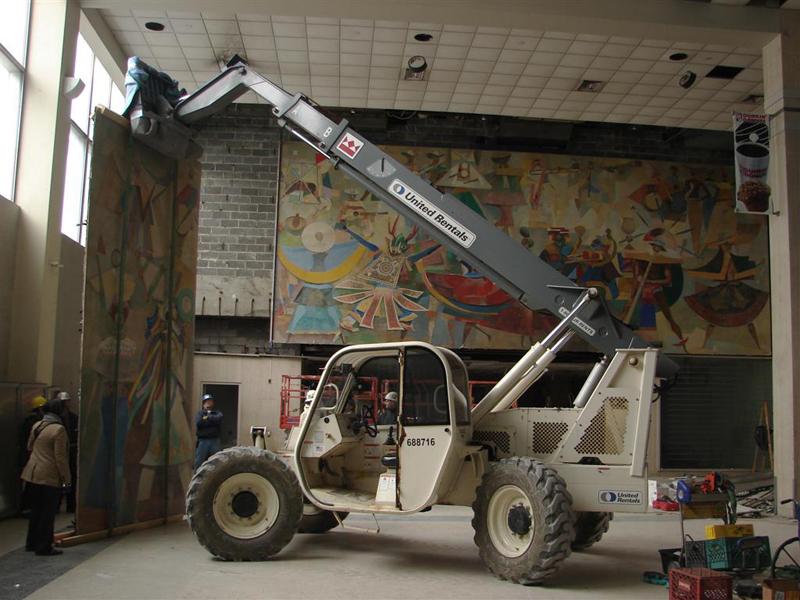 Carybe Mural - Deinstallation