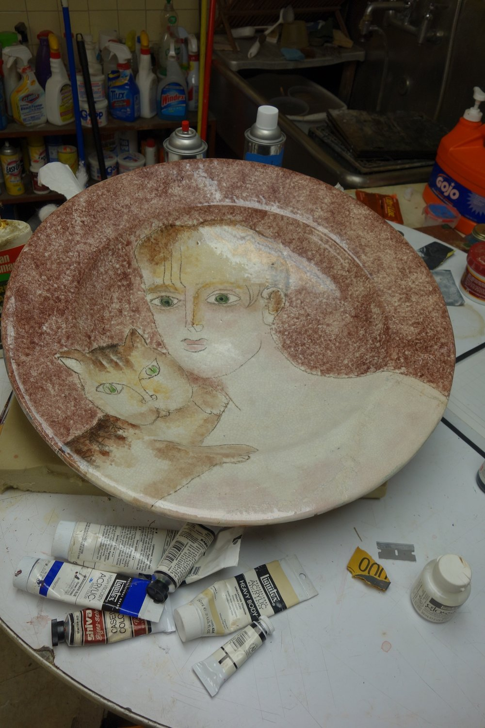 Unknown Artist - Cat Plate