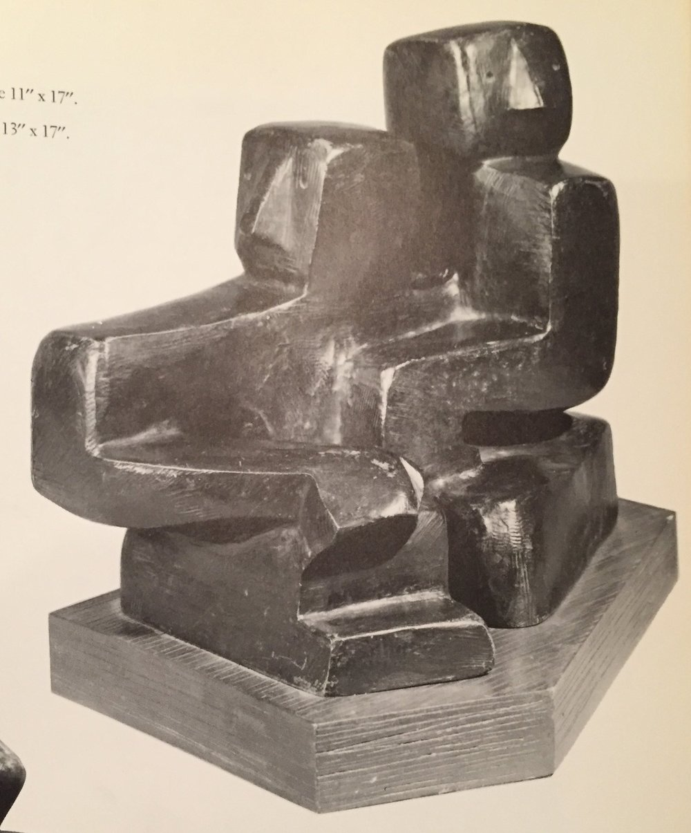 Louise Nevelson,  Two Figures.  Made with Tattistone