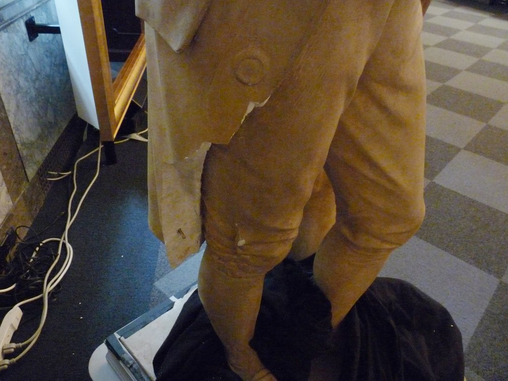 Plaster Coat of Benjamin Franklin