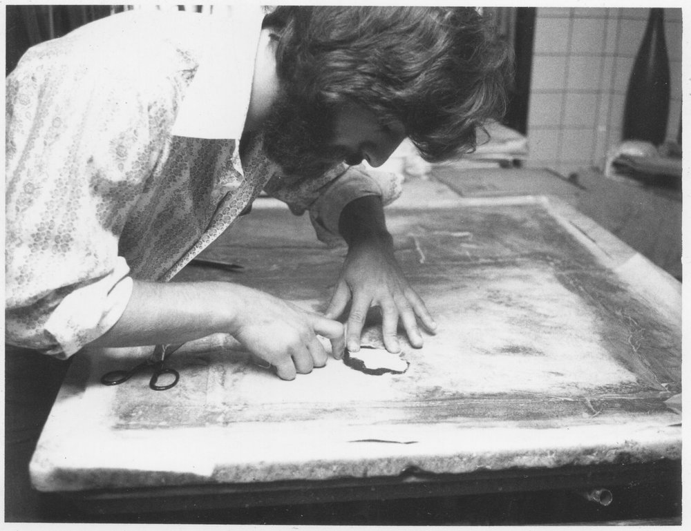 Steve Tatti Restoring Painting.jpg