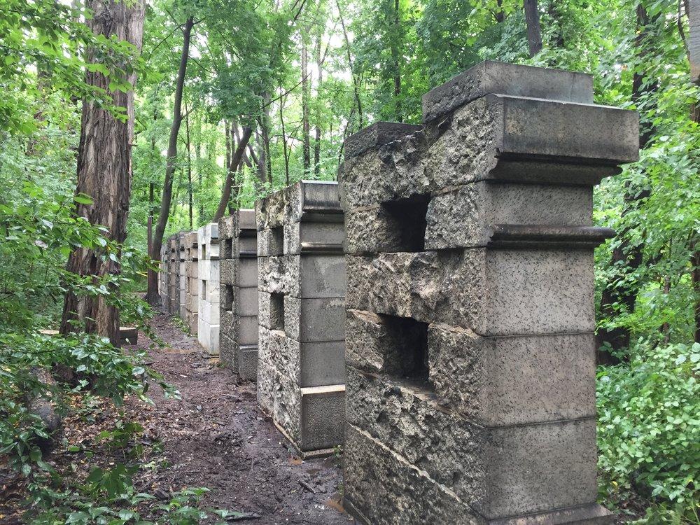 13 Stone Pillars