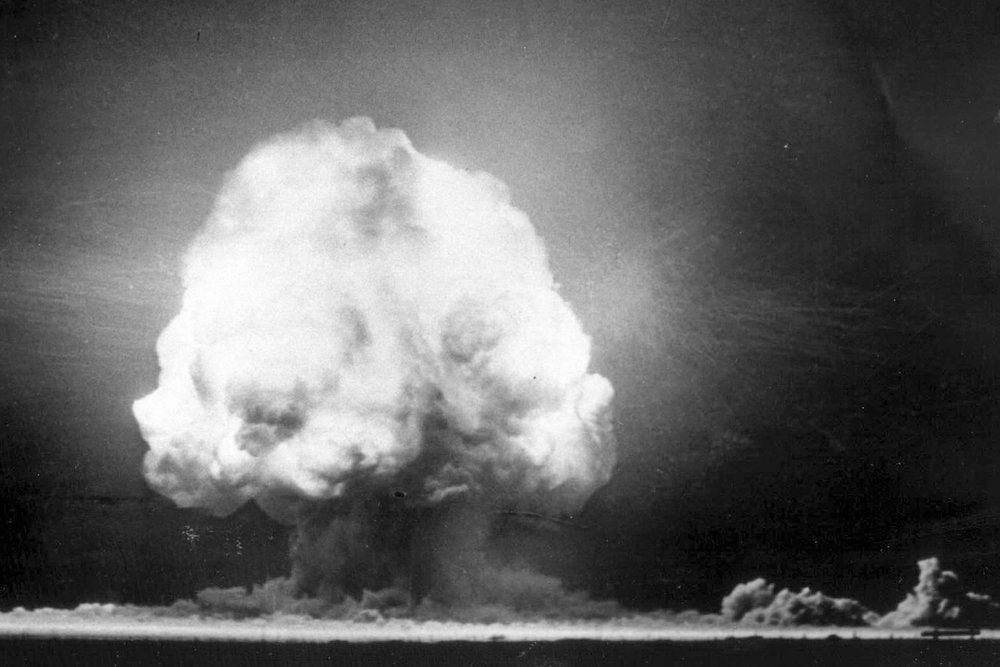 THE TRINITY BLAST, JULY 16, 1945, 05:29:45 MOUNTAIN WAR TIME