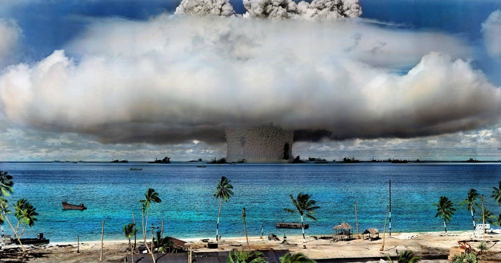 Nuclear weapon test at Bikini Atoll in 1946. Credit: United States Department of Defense via Wikimedia Commons