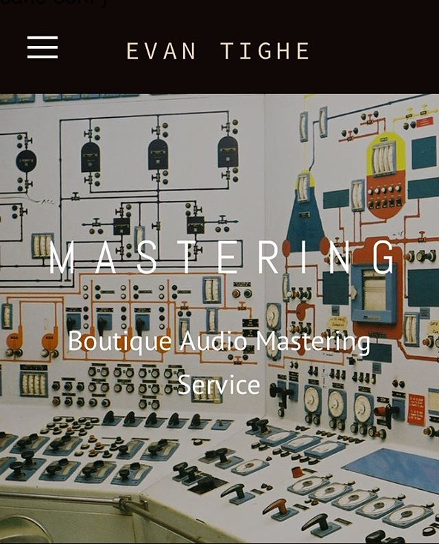 new site new gear new facebook post check it ! evantighemastering.com