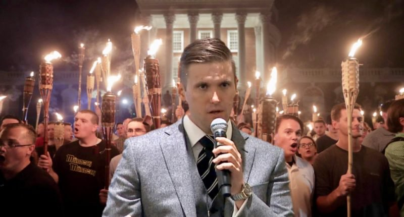 Richard B. Spencer, hosting a right wing Luau in Charlottesville.