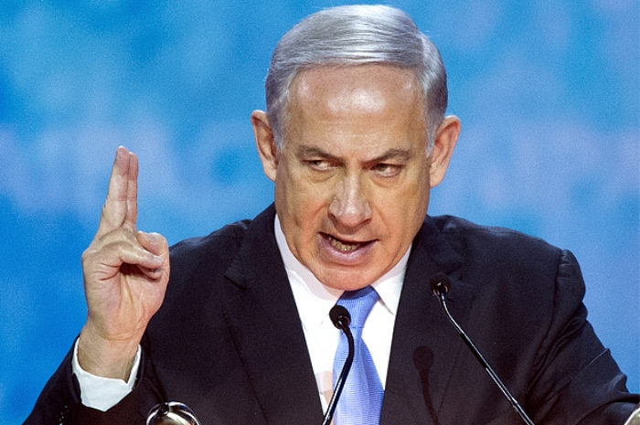 Benjamin Netanyahu, counting to two.