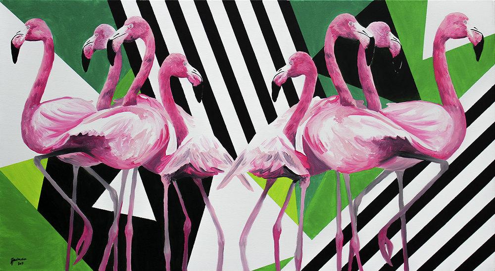 Zuzanna Zu Jankowska, Dezorientacja, akryl na płótnie, 132x70.jpg
