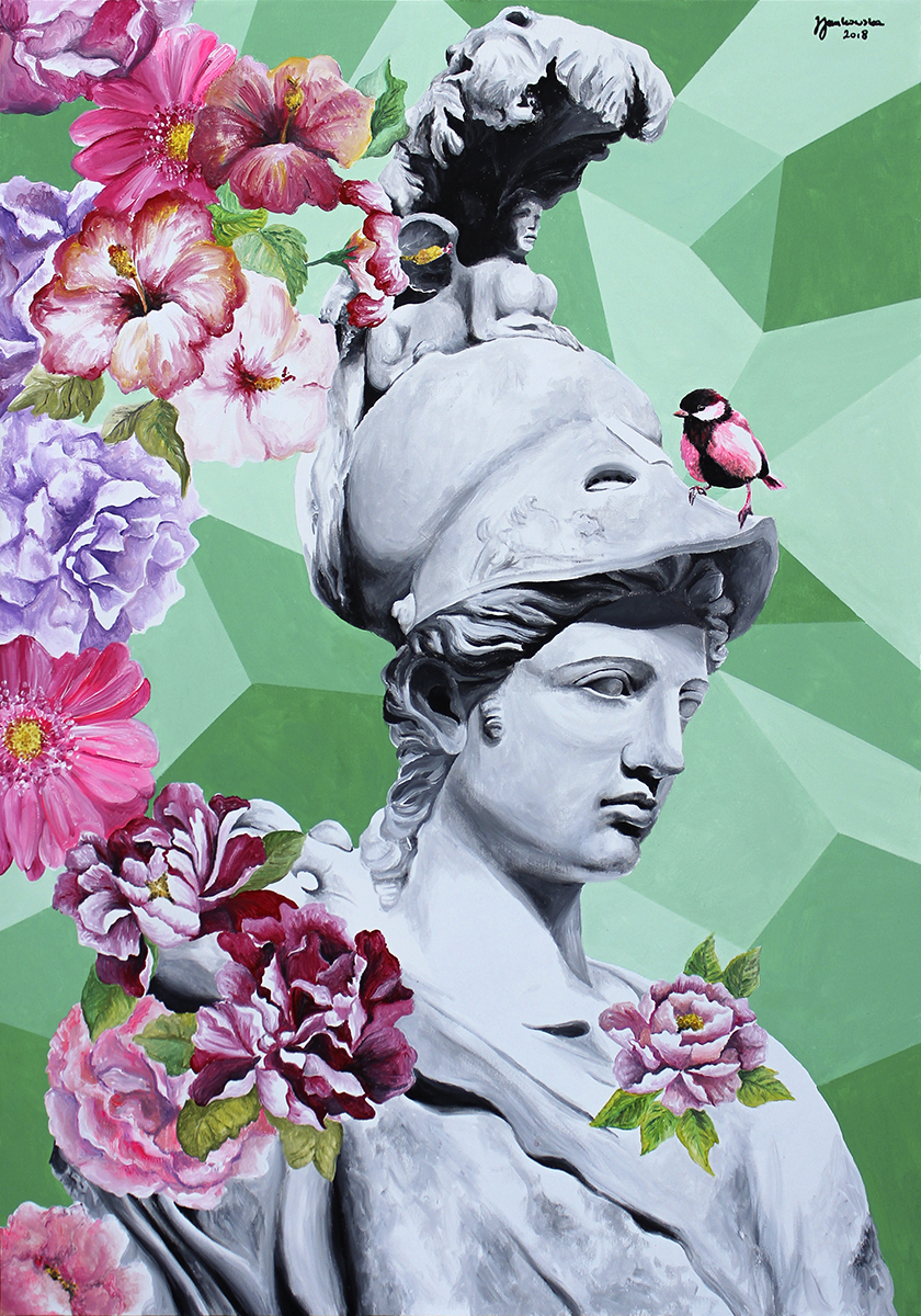 Zuzanna Zu Jankowska, Atena kwitnąca, akryl na płótnie, 100x70.jpg