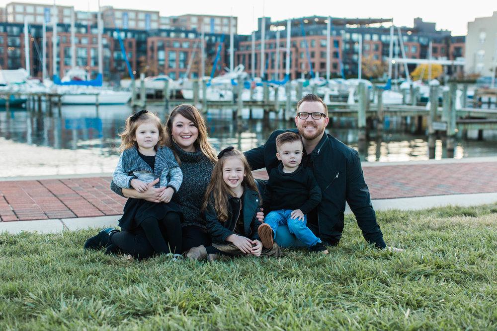 The Robinson Family: Rainy Jewell, Pastor Matt, River Josephine, Sarah, and Ross Jax.