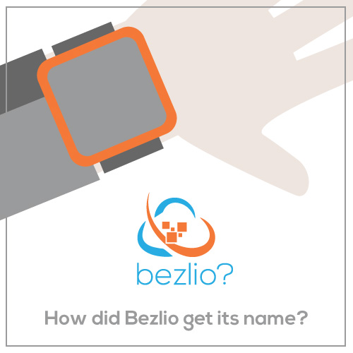 How did Bezlio get its name? A graphic of an arm and wristwatch with the bezel of the watch highlighted in orange.