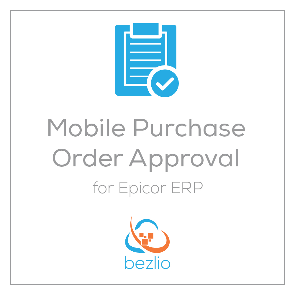 A mobile application for Epicor ERP users that allows them to view, edit and approve purchase orders from any device, from anywhere.