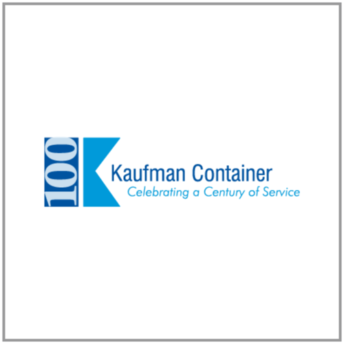 Logo for Kaufman Container, a satisfied Bezlio customer.