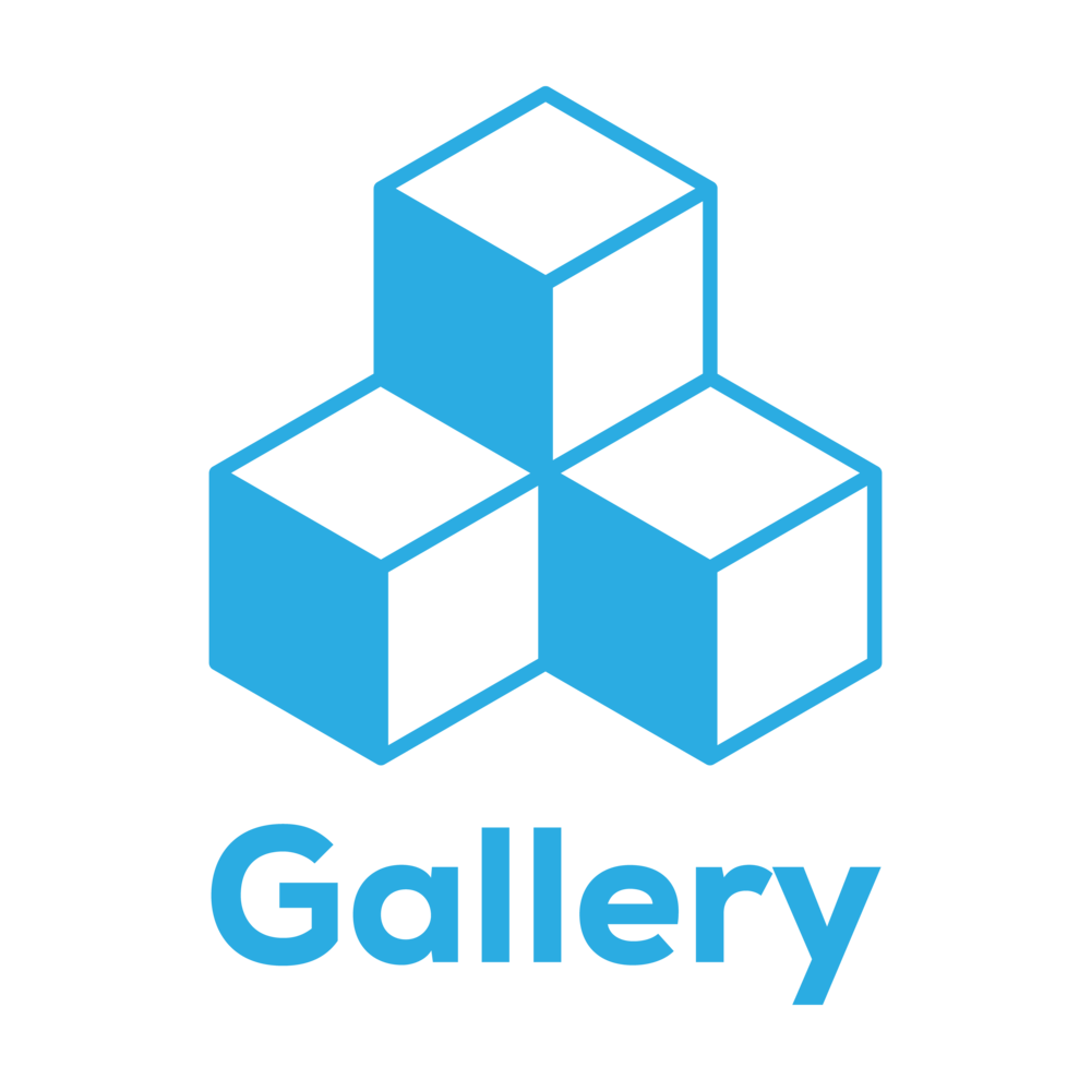 The Bezlio Gallery icon with three stacked boxes. The Gallery represents a collection of pre-made ERP mobile apps, dashboards and other data visualizations.
