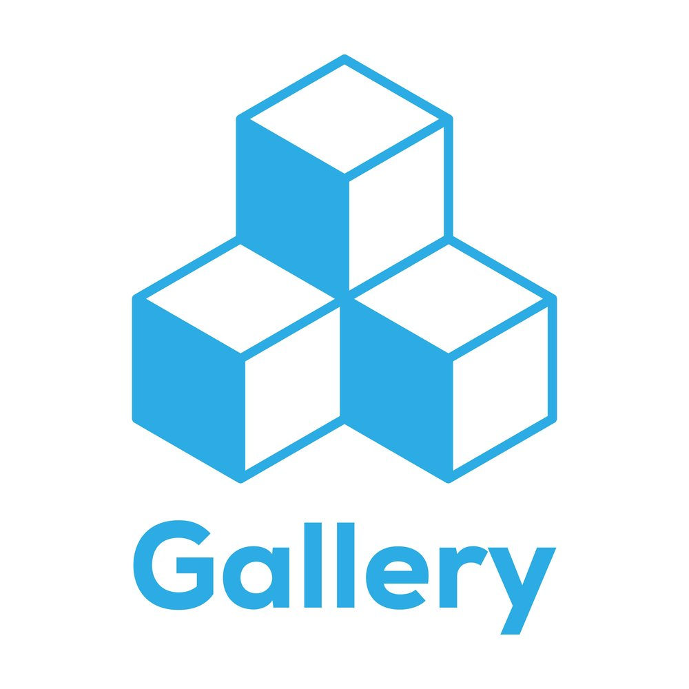 An image of three stacked boxes which is the logo for the Bezlio Gallery, an app store with pre-built business intelligence widgets, dashboards, vusualizations and more for any ERP. They can be installed instantly into a Bezlio account.