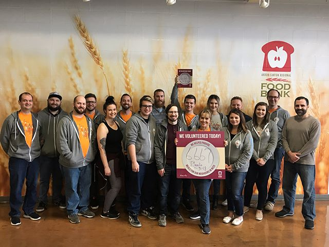 We spent the afternoon at the Akron-Canton Regional Foodbank preparing boxes of groceries for seniors and sorting items for their neighborhood marketplace. Overall, we prepared 6,667 meals! Thanks, ACRF for a great time! #feedpeople #fighthunger