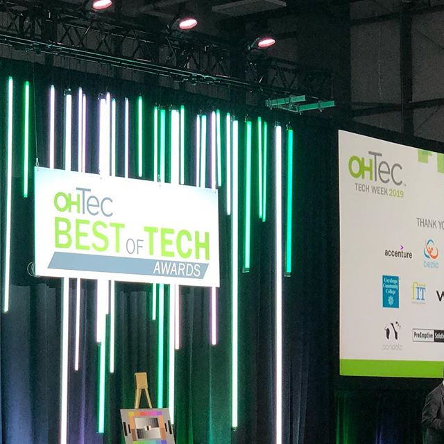 Getting ready for a fun evening of tech here in Northeast Ohio. We are sponsoring the OHTec awards this evening. Congratulations to everyone nominated this evening! #nerdoscars