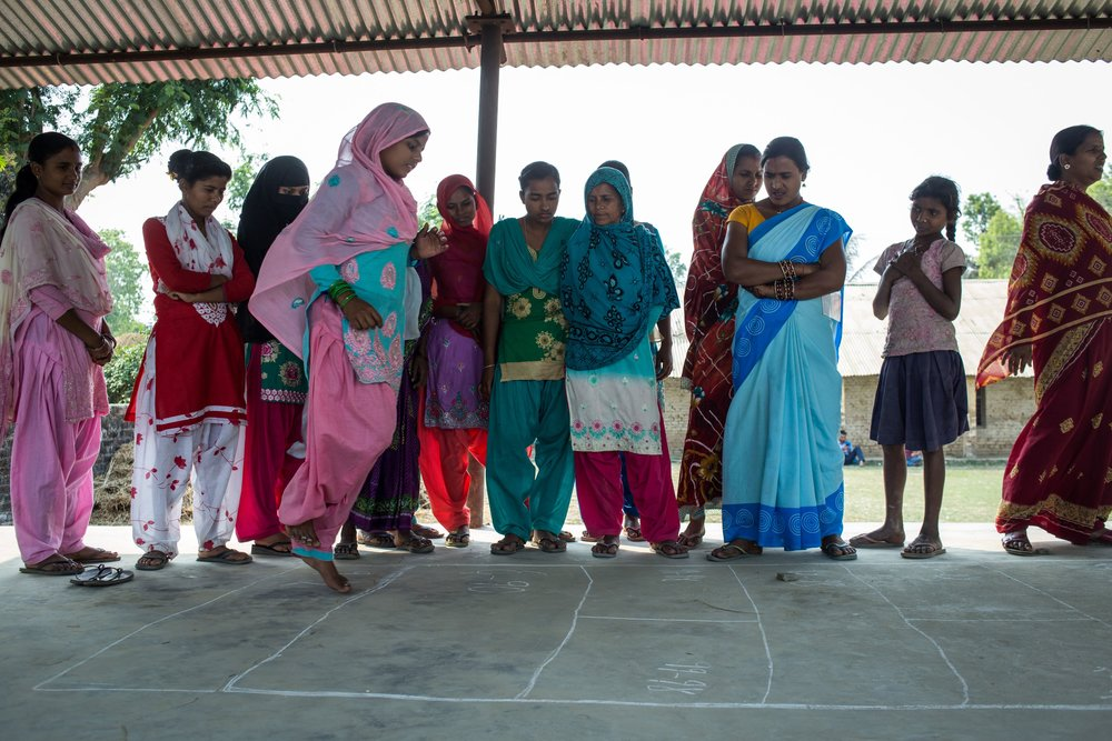 "- ""Pragati allowed us to speak freely. We were able to share our problems with each other…Hopscotch helps us address our past mistakes. Some of us left our studies to marry. In the village there is a trend of marrying early and conceiving early…I learned a lot from this game."""