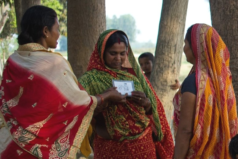 """- """"In the role play game, we had to take the roles of a mother-in-law, a husband, a friend, doctor, or dhami [shaman]. We had to discuss with all of them and take suggestions from each one of them about what would be best for us.""""-FEMALE PRAGATI PARTICIPANT"""