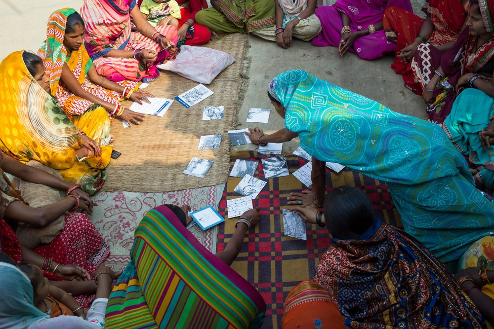 """- """"I really like the side-effects game. I watched it a while back…the unmarried young women, before they understood, had said they wouldn't use family planning…After that, I've heard they've become really interested.""""SHARDA CHAUDHARY, HEALTH MOTHERS GROUP MEMBER"""