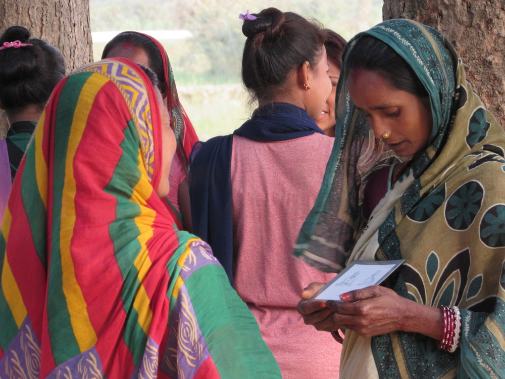 """- """"I used to feel shy to talk about family planning but these days I can talk without any hesitation. I think the Pragati games have made people more aware about family planning and reproductive health.""""FEMALE PRAGATI PARTICIPANT"""