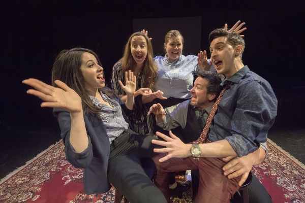 (Left to right) Lexi Orphanos, Sarah Galvin, Winn Klein, Rob Reese, and Jake Haven Parisse.   Photo: Michael Heller
