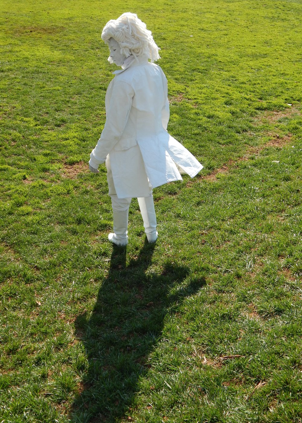 10 The Lawn, University of Virginia -- Even ghosts have their ghosts. A shadow follows The Ghost of Thomas Jefferson. Charlottesville, VA.jpg