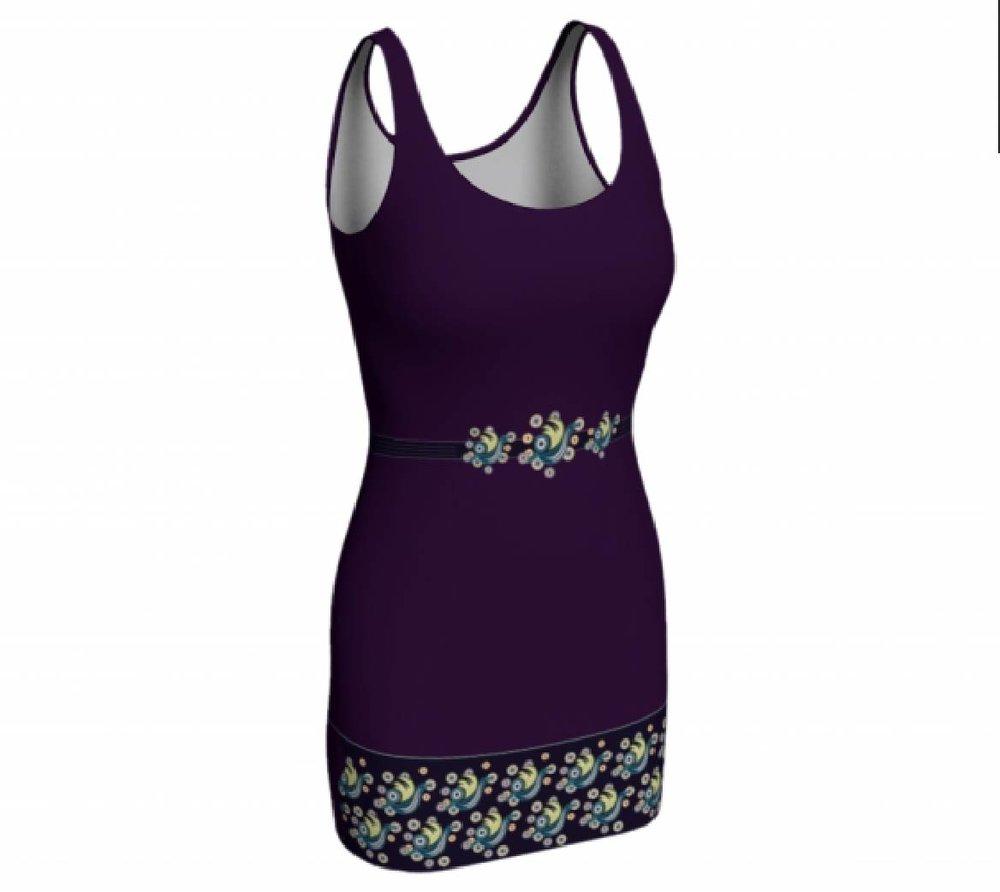 Violet Bodycon Dress $65