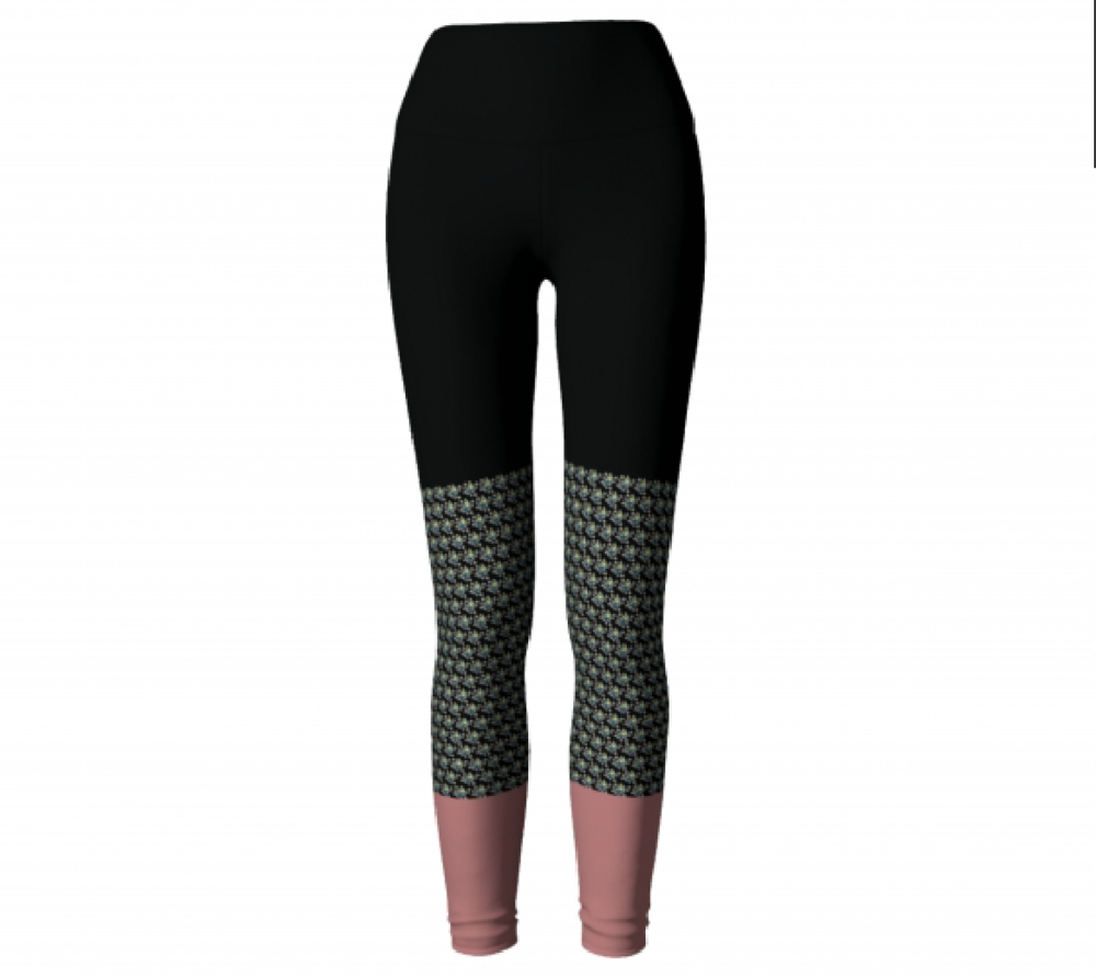 Black & Mauve           Leggings $45