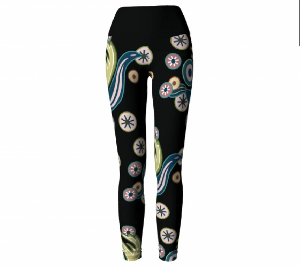 Black Design Leggings                  $45