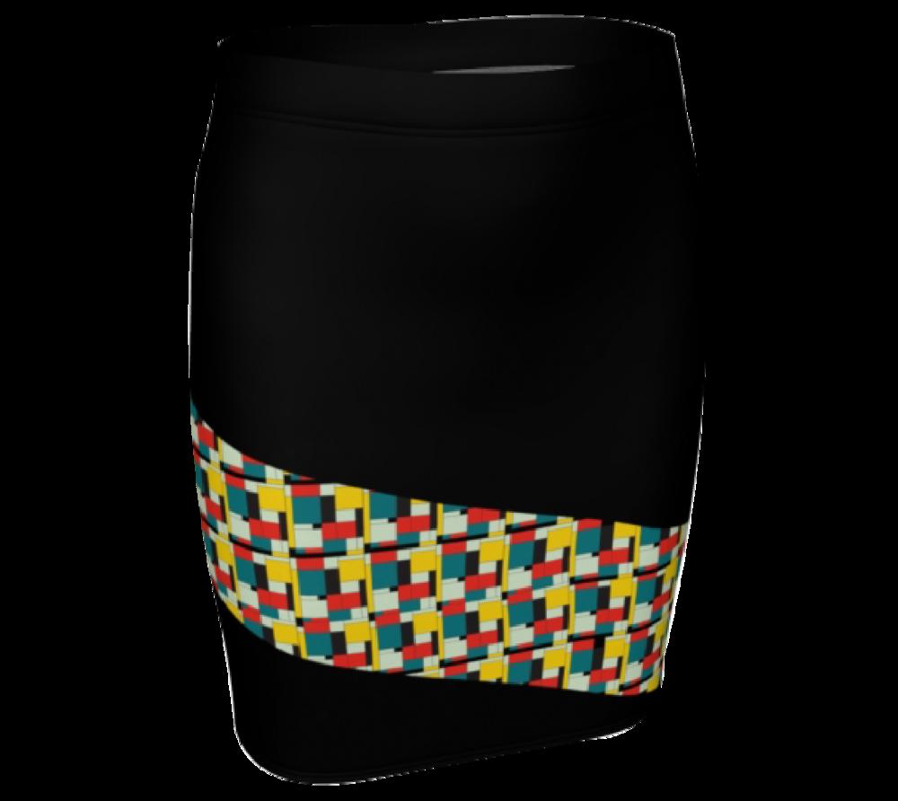 Black Pattern Skirt  $30