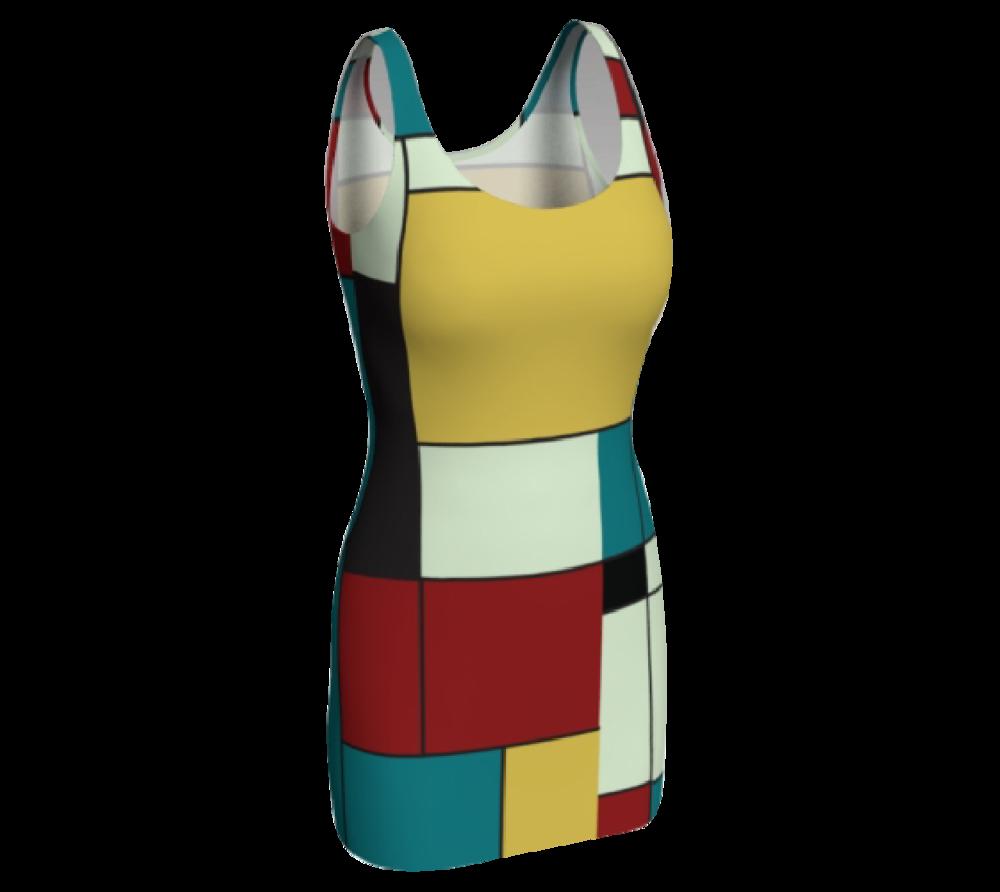 Block Print Bodycon Dress #5               $65